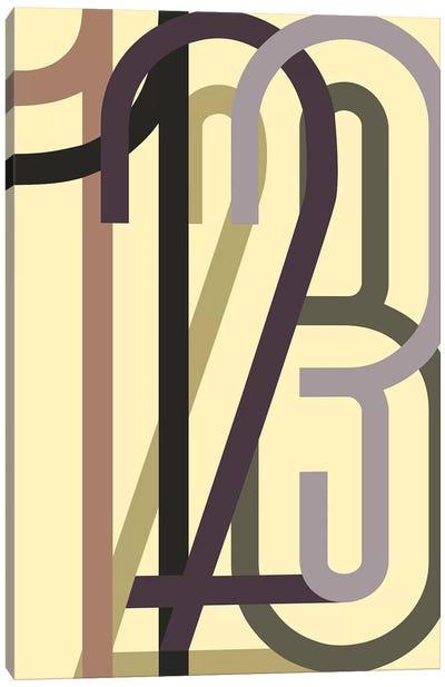 Numbers I Canvas Art Print