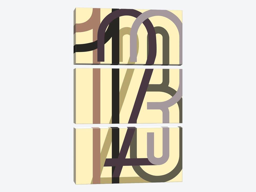 Numbers I by Design Fabrikken 3-piece Art Print