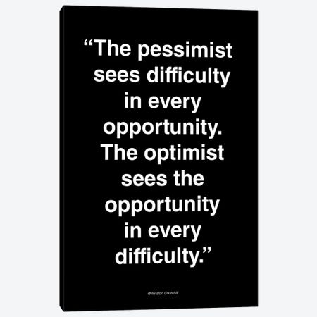 Opportunity Canvas Print #FBK93} by Design Fabrikken Canvas Artwork