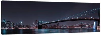 Manhattan Skyline And Brooklyn Bridge Canvas Art Print