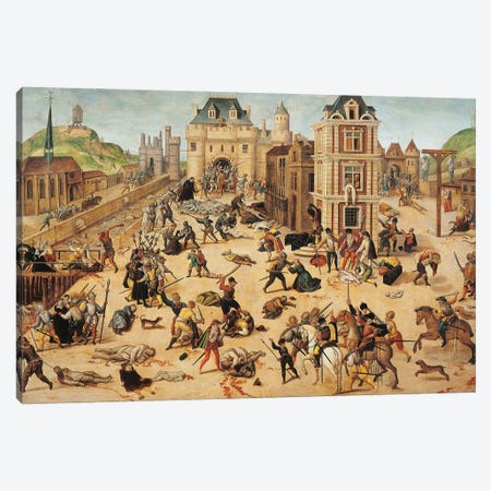 St. Bartholomew's Day Massacre, c.1572-84 Canvas Print #FDB1} by Francois Dubois Canvas Print
