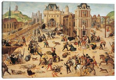 St. Bartholomew's Day Massacre, c.1572-84 Canvas Art Print