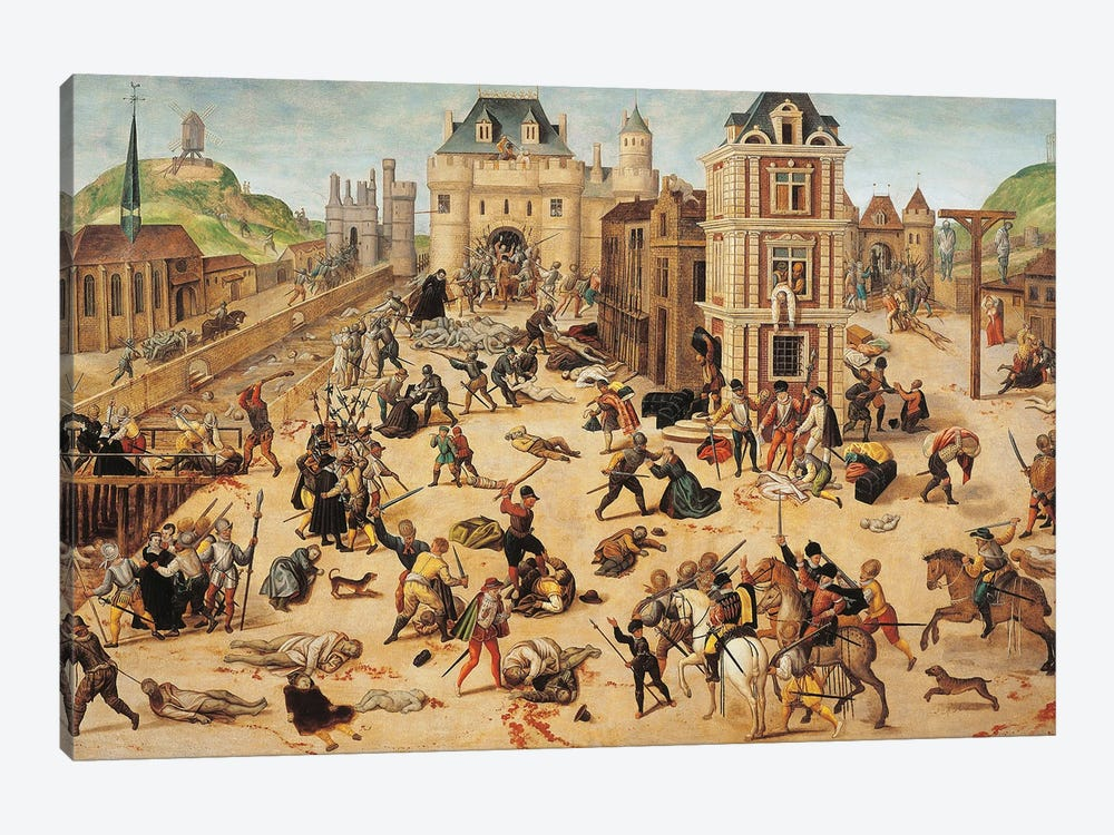 St. Bartholomew's Day Massacre, c.1572-84 by Francois Dubois 1-piece Canvas Art Print