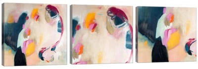 Bundled Parallels Triptych Canvas Art Print