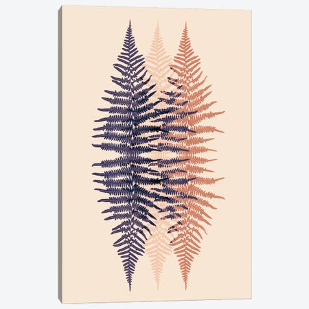 Late Sunset Fern Pattern Canvas Print #FEN104} by Alyson Fennell Art Print