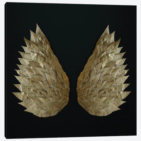 Gold Leaf Angel Wings Canvas Print #FEN126} by Alyson Fennell Art Print