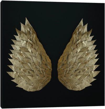 Gold Leaf Angel Wings Canvas Art Print