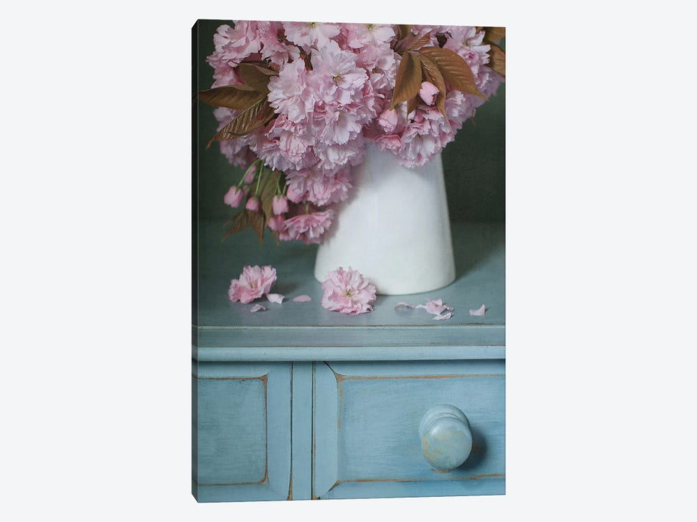 Cherry Blossom In White Jug by Alyson Fennell 1-piece Art Print
