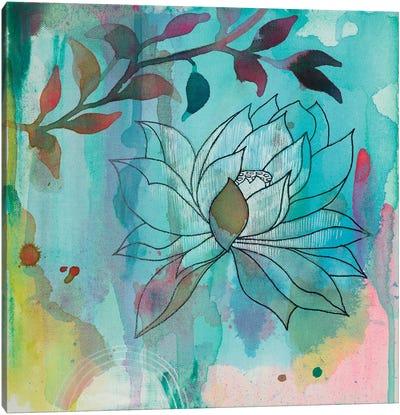 Cool Bloom I Canvas Art Print