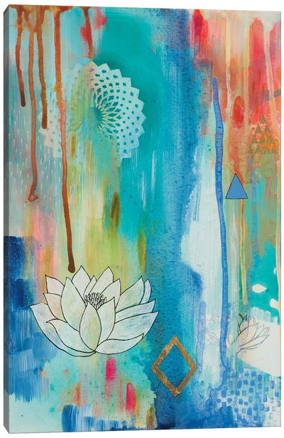 Lotus Bloom Canvas Art Print