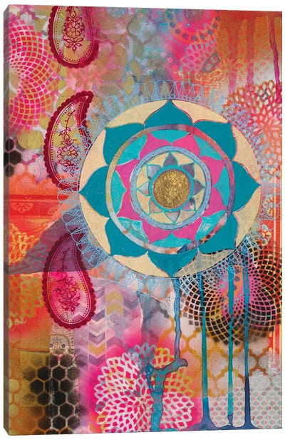 Lotus Flower Paisley I Canvas Art Print