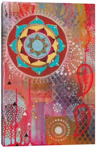 Lotus Flower Paisley II Canvas Art Print