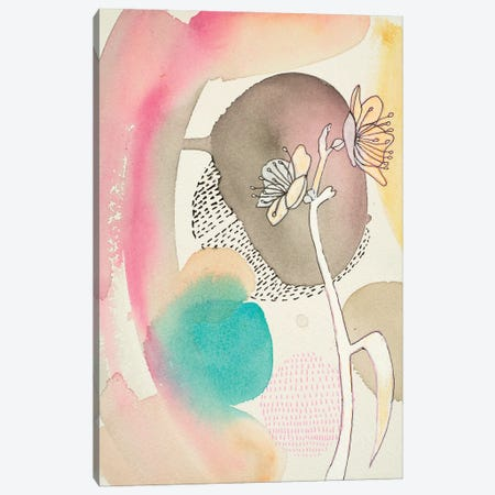Sketched Flower With Color I Canvas Print #FES33} by Faith Evans-Sills Canvas Art Print
