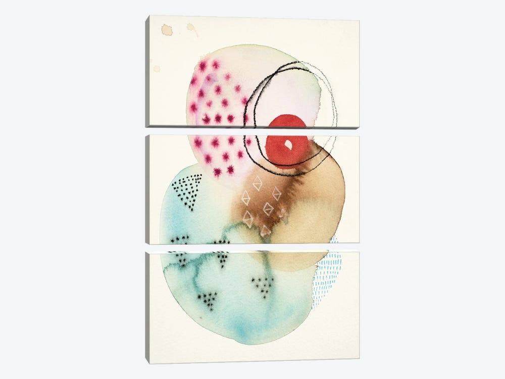 Splash I by Faith Evans-Sills 3-piece Canvas Wall Art