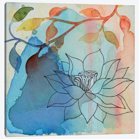 Calm Lotus I Canvas Print #FES7} by Faith Evans-Sills Canvas Art Print