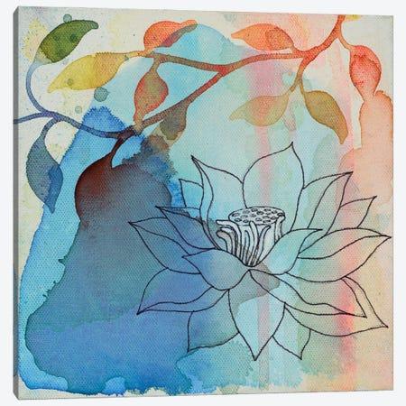 Calm Lotus I Canvas Print #FES7} by Faith Evans-Sills Canvas Art Print