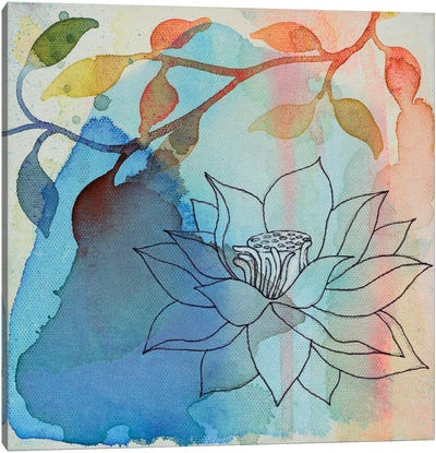 Calm Lotus I Canvas Art Print