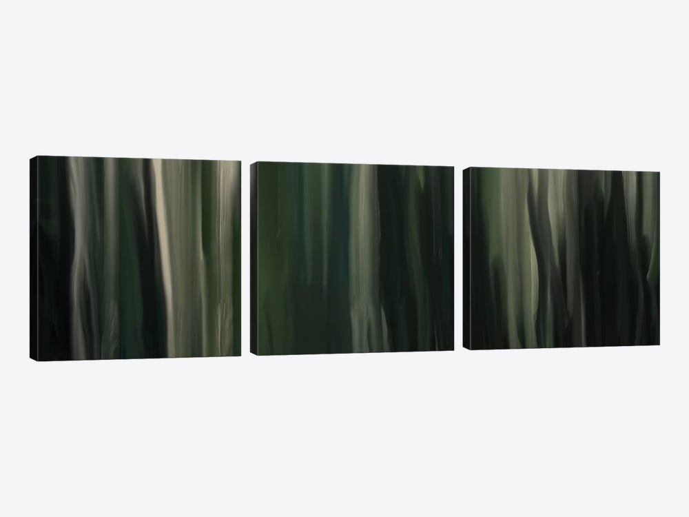 Sentimental Pine by 5by5collective 3-piece Canvas Art Print