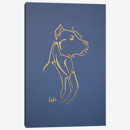 Pitbull Terrier Canvas Print #FFK101} by Fefa Koroleva Canvas Wall Art