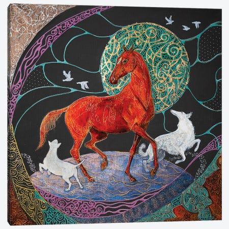 A Dance With Spirits Canvas Print #FFK103} by Fefa Koroleva Canvas Wall Art