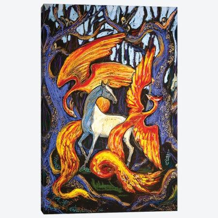 The Fire Birds Canvas Print #FFK115} by Fefa Koroleva Canvas Artwork
