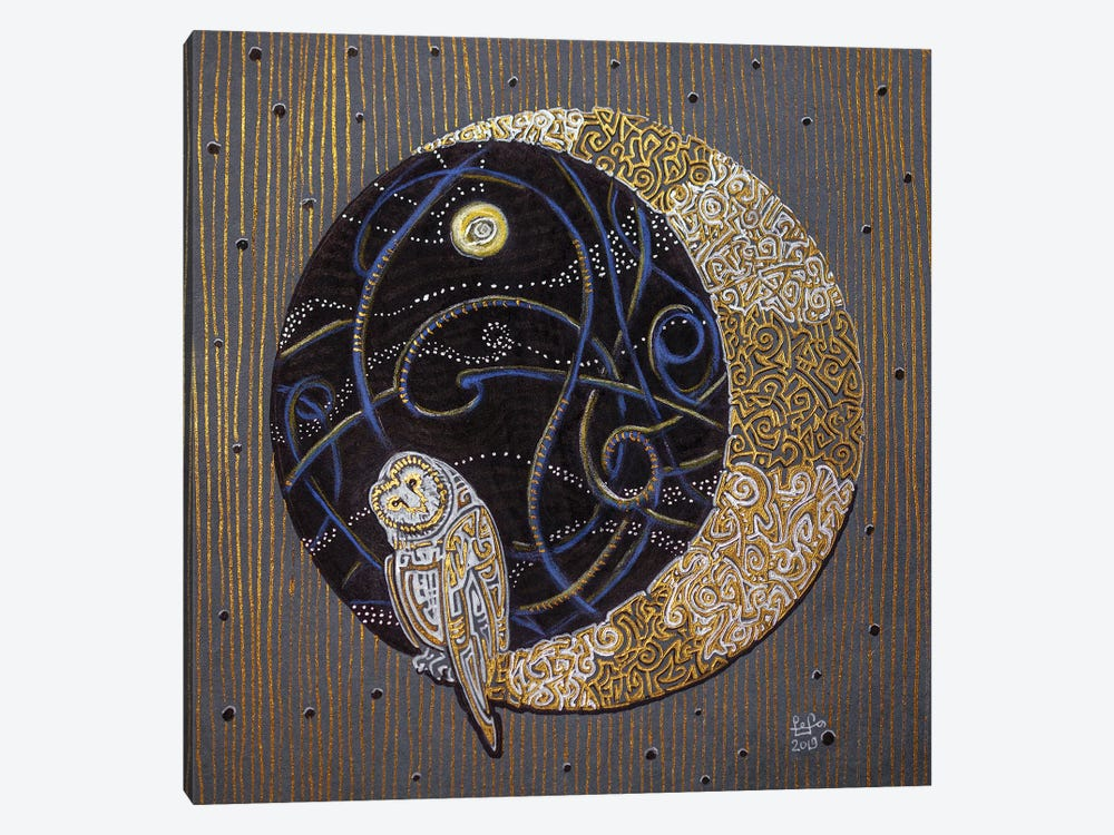 Far Side Of The Moon by Fefa Koroleva 1-piece Canvas Wall Art
