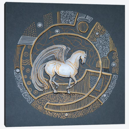 Pegasus Canvas Print #FFK129} by Fefa Koroleva Canvas Artwork