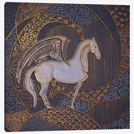 White Pegasus Canvas Print #FFK130} by Fefa Koroleva Canvas Print