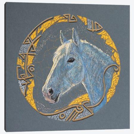Sunny Stallion Canvas Print #FFK157} by Fefa Koroleva Canvas Art