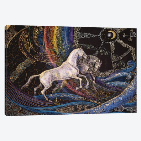 Running Through The Rainbow Canvas Print #FFK96} by Fefa Koroleva Canvas Wall Art