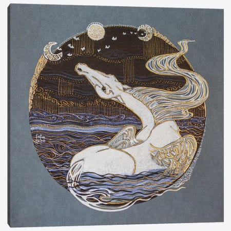 Freedom. Night Of The Third Moon Canvas Print #FFK98} by Fefa Koroleva Canvas Print