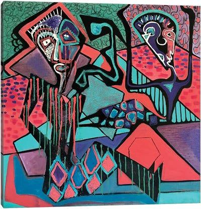 Expressive Abstract V Canvas Art Print