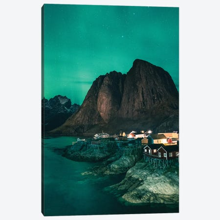 Polar Lights In Norway Canvas Print #FFM103} by Fabian Fortmann Canvas Artwork