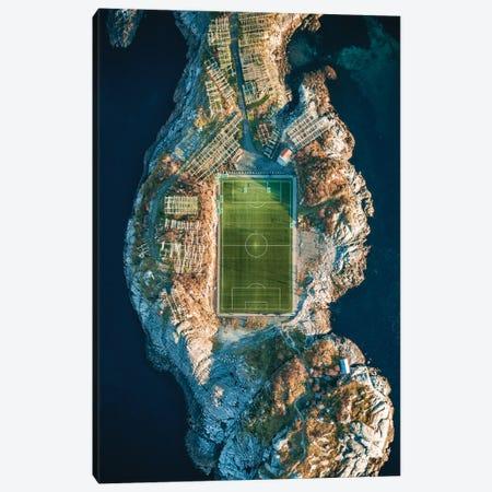 Unique Soccer Pitch Canvas Print #FFM108} by Fabian Fortmann Canvas Wall Art
