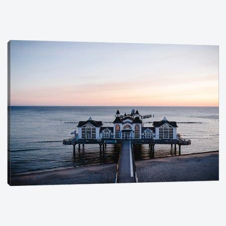 The Pier At Sunset Canvas Print #FFM119} by Fabian Fortmann Canvas Print