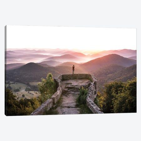 Breathtaking Sunrise Canvas Print #FFM125} by Fabian Fortmann Art Print