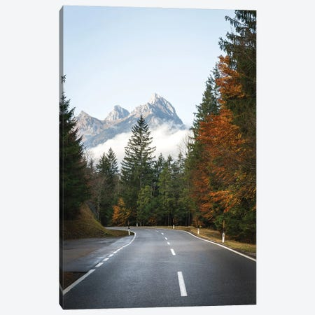 Autumn Road Canvas Print #FFM130} by Fabian Fortmann Art Print