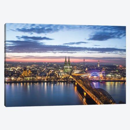 Cologne Cityscape Canvas Print #FFM148} by Fabian Fortmann Canvas Artwork