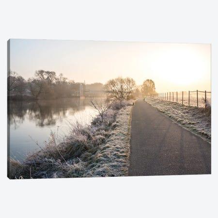 Misty Morning Run Canvas Print #FFM152} by Fabian Fortmann Canvas Art Print