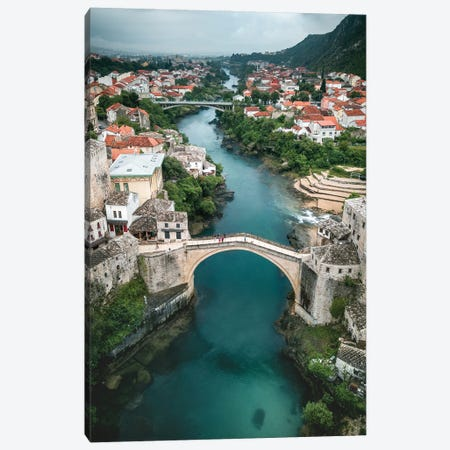 The Bridge Of Mostar Canvas Print #FFM170} by Fabian Fortmann Canvas Print