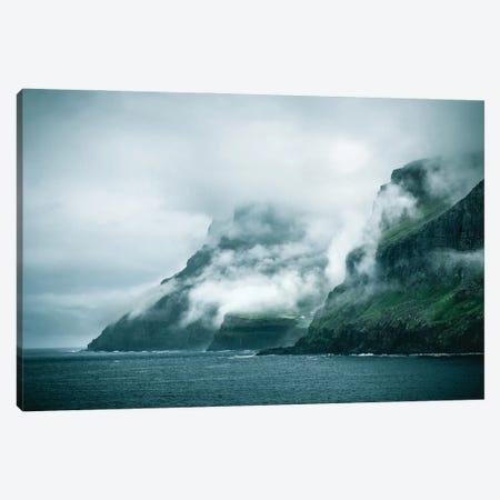 Moody Coast Canvas Print #FFM173} by Fabian Fortmann Art Print