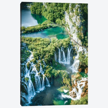1000 Waterfalls Canvas Print #FFM31} by Fabian Fortmann Canvas Art Print