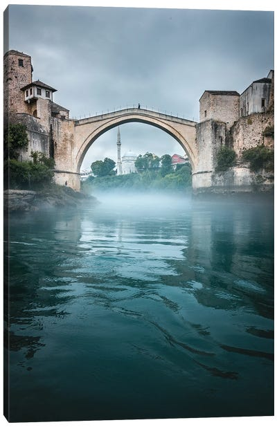 Misty Mostar Canvas Art Print