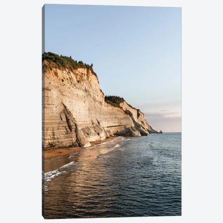 White Cliffs Of Corfu Canvas Print #FFM71} by Fabian Fortmann Art Print