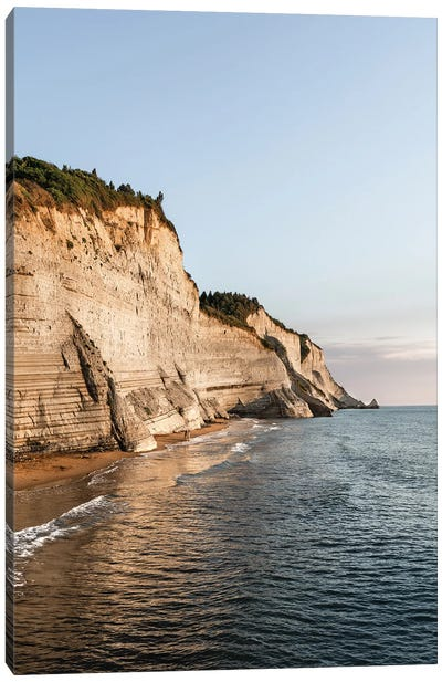 White Cliffs Of Corfu Canvas Art Print
