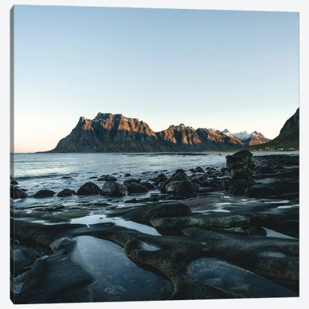 Stone Beach Canvas Print #FFM89} by Fabian Fortmann Canvas Art