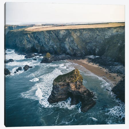 Cornwall's Coast Canvas Print #FFM8} by Fabian Fortmann Canvas Art