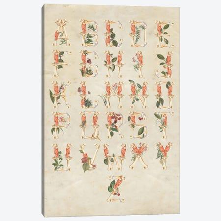 Alphabet Canvas Print #FFO20} by FFO Art Canvas Wall Art