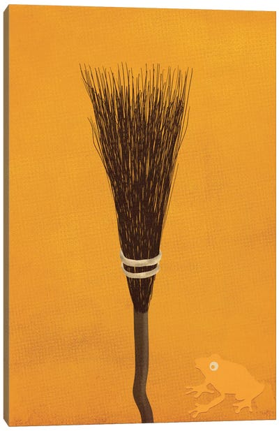 Broomsticks At The Ready Canvas Art Print