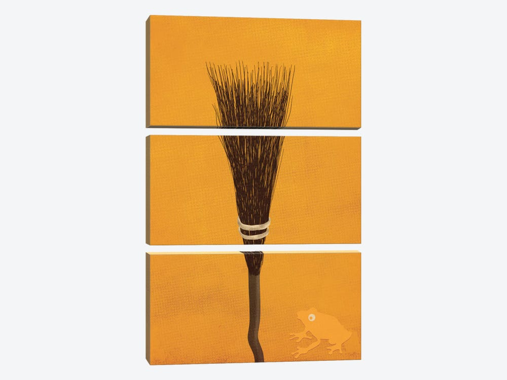 Broomsticks At The Ready by 5by5collective 3-piece Canvas Print